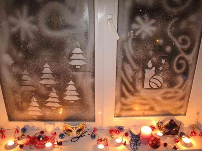 Искусственный снег своими руками на окна