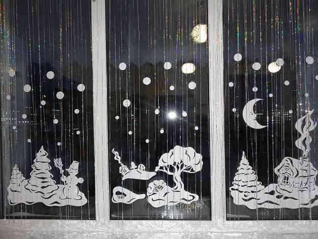 Украшения на новый год 2015 на окна